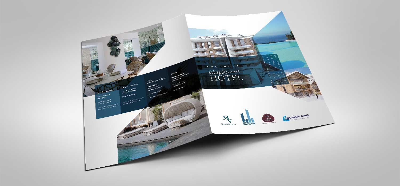 Création graphique brochure résidences de luxe